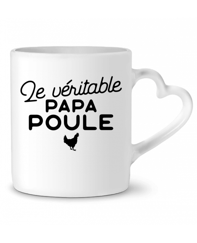 mug coeur papa poule cadeau no l original t shirt. Black Bedroom Furniture Sets. Home Design Ideas