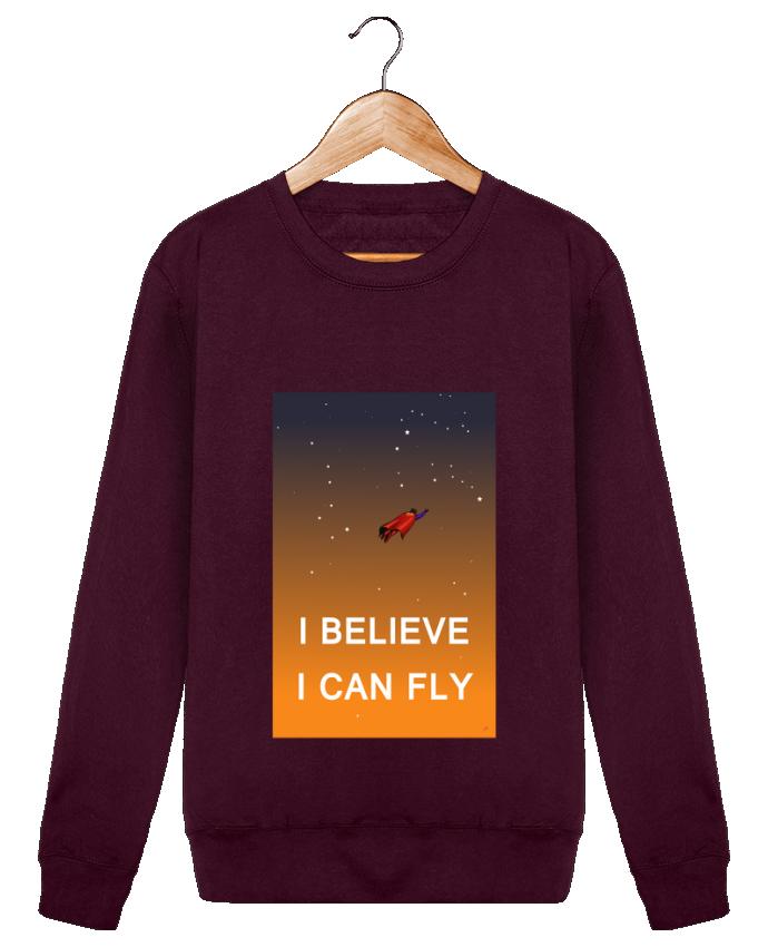 Sweat Col Rond Unisexe I believe I can fly, oui je peux! par Lia Illustration bien-être