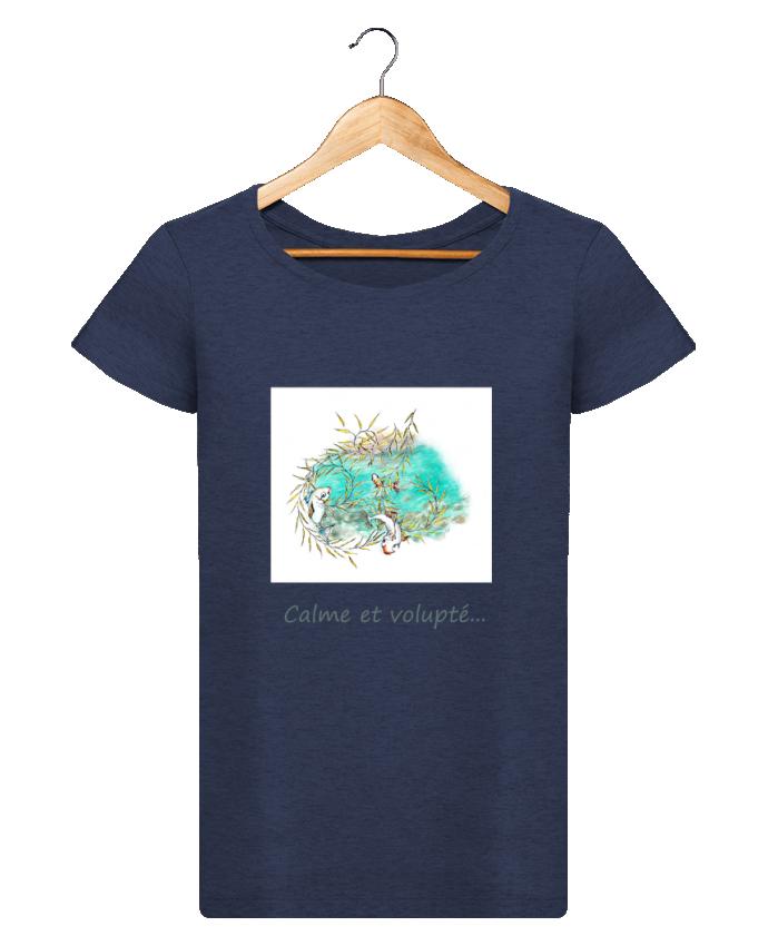 T-shirt Femme Stella Loves Poissons qui sautent dans le saule pleureur par Lia Illustration bien-être