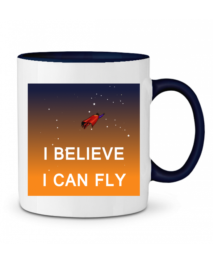 Mug en Céramique Bicolore I believe I can fly, oui je peux! Lia Illustration bien-être