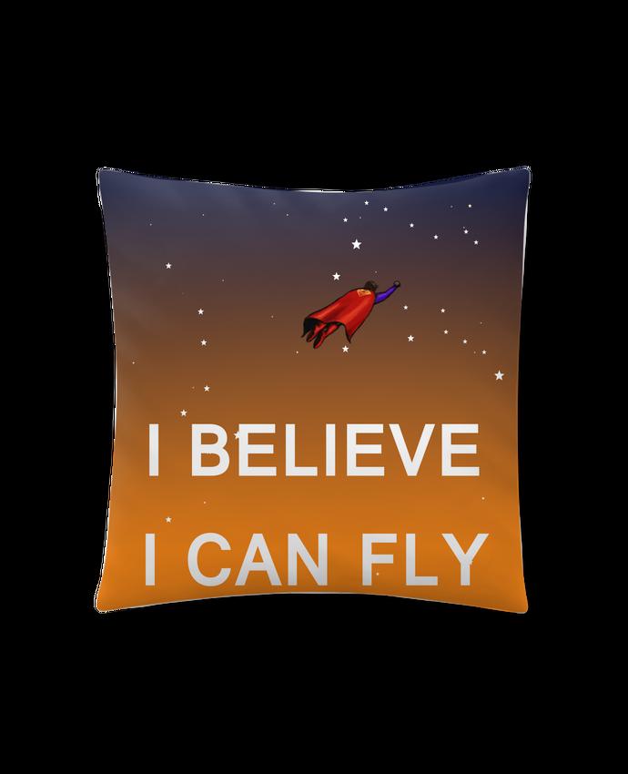 Coussin Synthétique Doux 45 x 45 cm I believe I can fly, oui je peux! par Lia Illustration bien-être