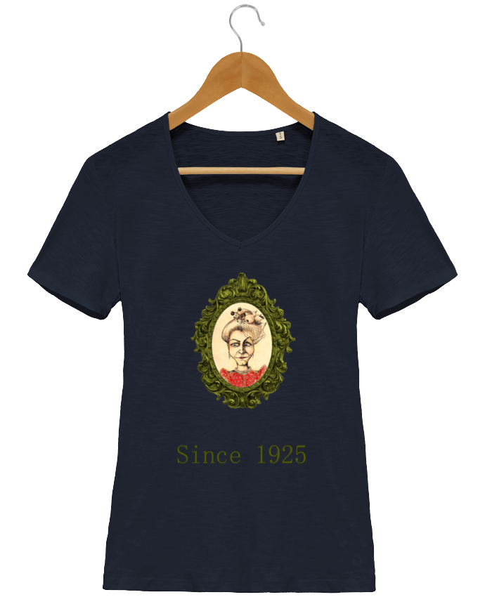 T-shirt Femme Col V Stella Chooses Ma vieille Tante par Lia Illustration bien-être