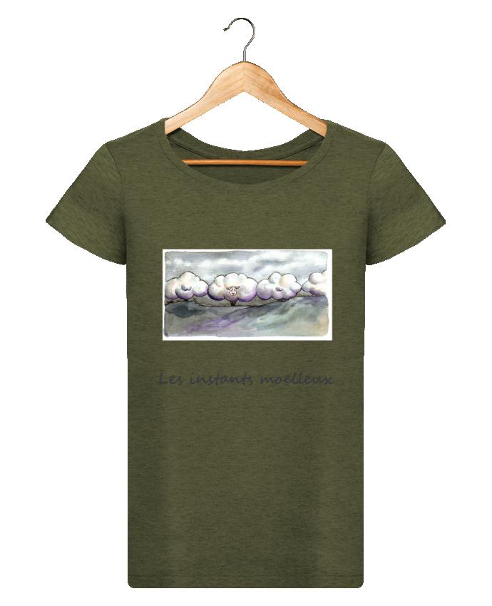 T-shirt Femme Stella Loves moutons nuages par Lia Illustration bien-être