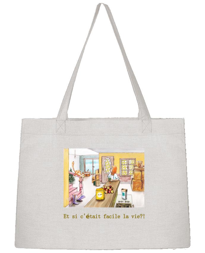 Sac Cabas Shopping Stanley Stella emménagement la vie facile par Lia Illustration bien-être