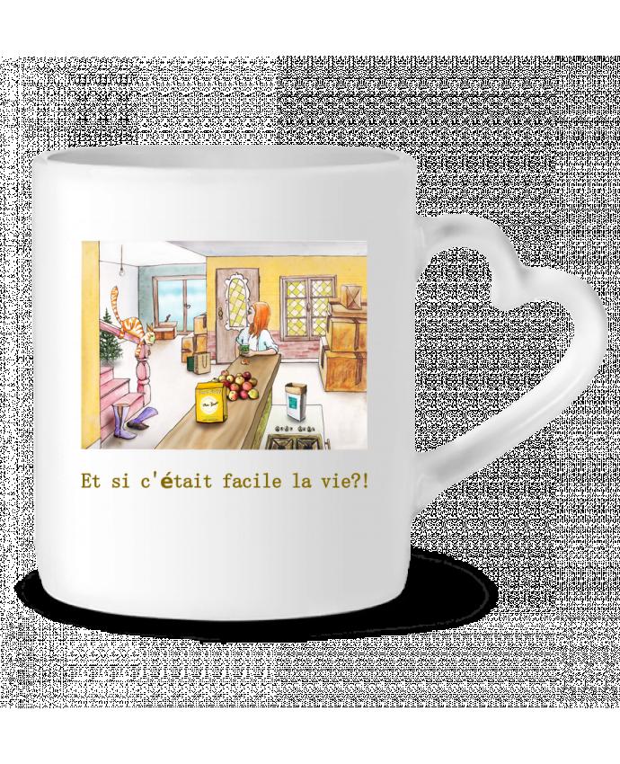 Mug Coeur emménagement la vie facile par Lia Illustration bien-être