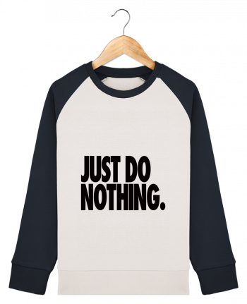 Sweat Shirt Col Rond Enfant Stanley Mini Contrast Just Do Nothing par Freeyourshirt.com