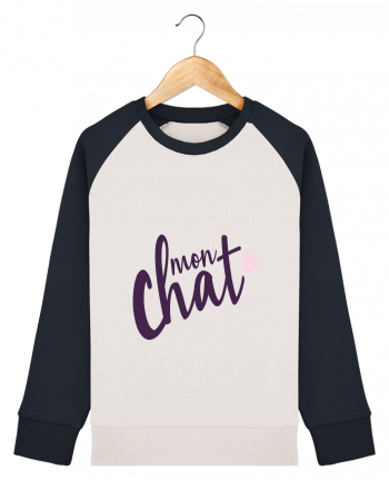 Sweat Shirt Col Rond Enfant Stanley Mini Contrast Mon Chat par Nana