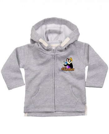Sweat Bébé Zippé à Capuche Besties Snow White par Nick cocozza