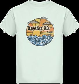 e05fd90da5c1f T-shirt ethique coton bio enfant soleil et ocean old school Vintage 15.9€