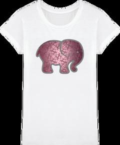 e40ae04b5f2c0 T-shirt ethique coton bio femme elephant rose 17.9€