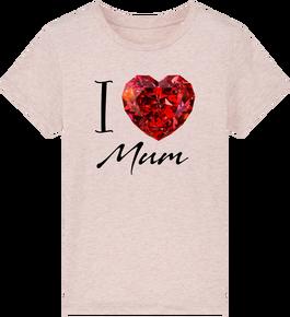 1608d7a6e6d46 T-shirt enfant éthique bio « i love mum
