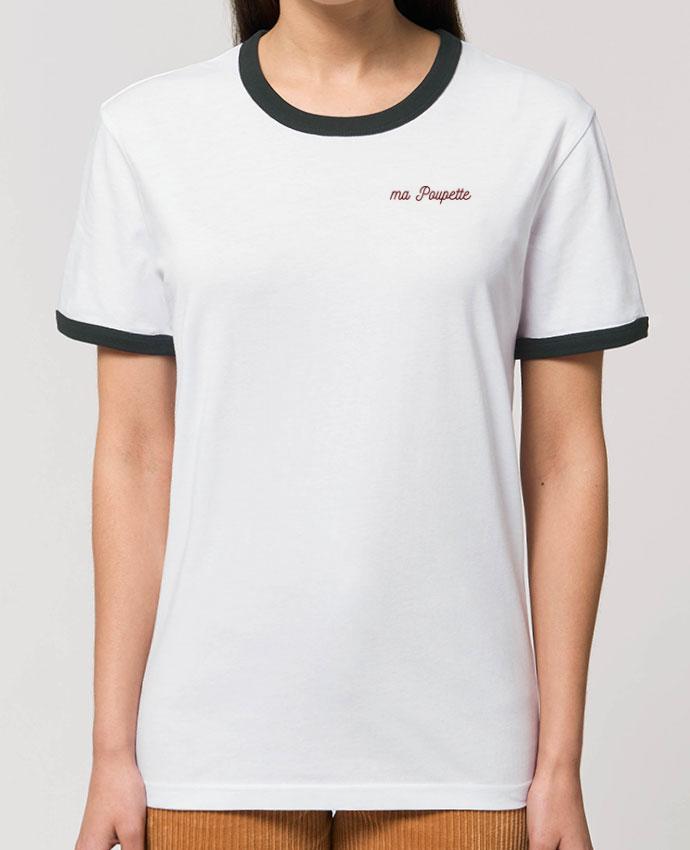 T-shirt brodé Ma poupette Par  tunetoo