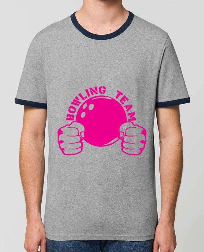 T-shirt bowling team poing fermer logo club parAchille