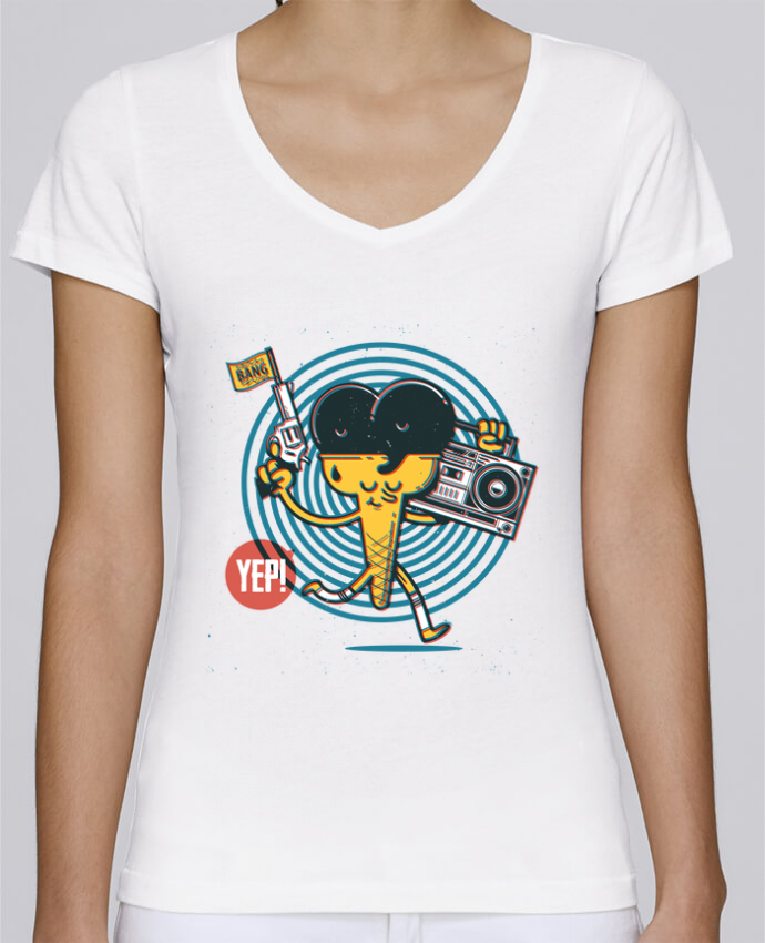 T-shirt Femme Col V Stella Chooses YEP! Ice Cream par YEP!