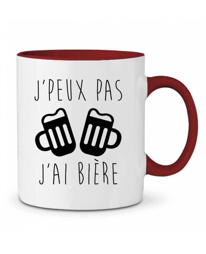 Mug en Céramique Bicolore J'peux pas j'ai bière Benichan