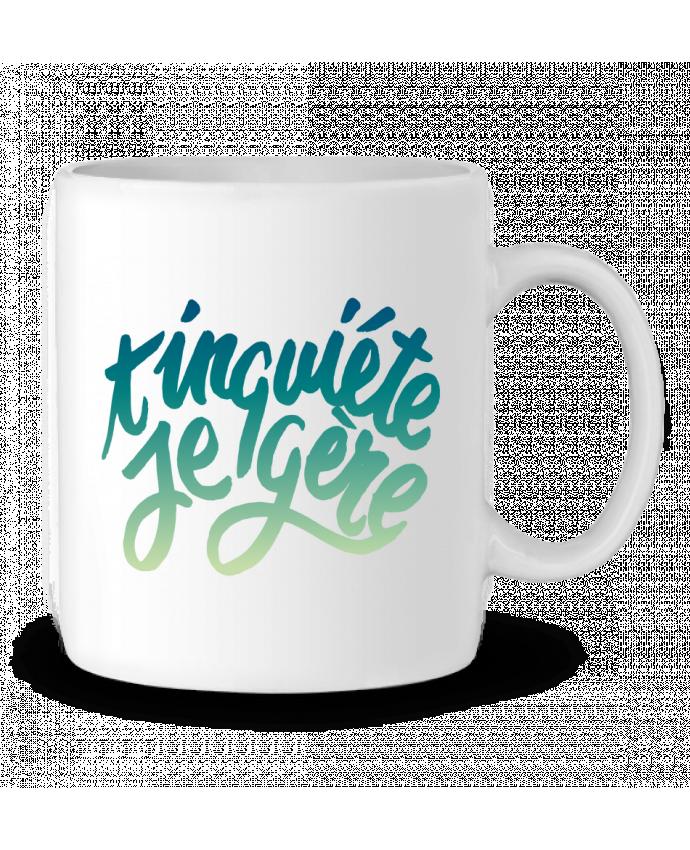 Mug en Céramique T'inquiète je gère par Promis