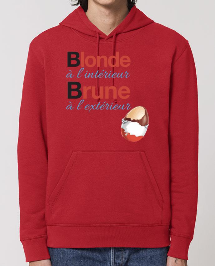 Hoodie Blonde à l'intérieur / Brune à l'extérieur Par Monidentitevisuelle