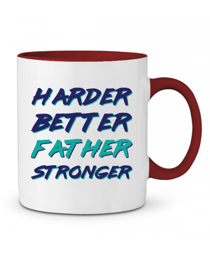 Mug en Céramique Bicolore Harder Better Father Stronger tunetoo