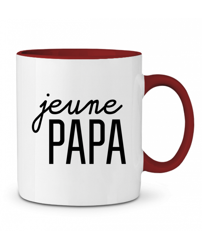 Mug en Céramique Bicolore Jeune papa tunetoo
