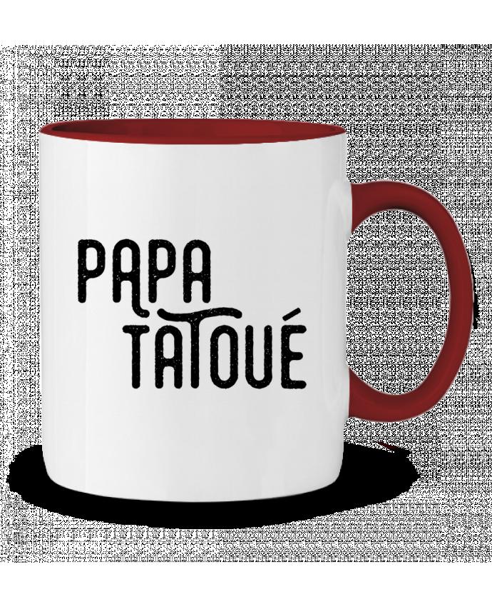 Mug en Céramique Bicolore Papa Tatoué tunetoo
