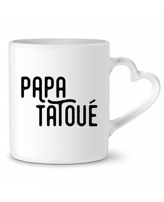 Mug Coeur Papa Tatoué par tunetoo