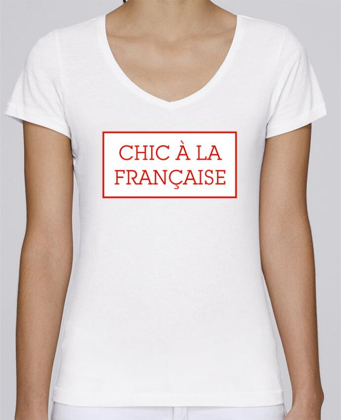 T-shirt Femme Col V Stella Chooses Chic à la française par tunetoo