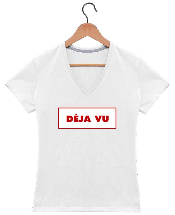 T-shirt Col V Femme 180 gr Déjà vu par tunetoo