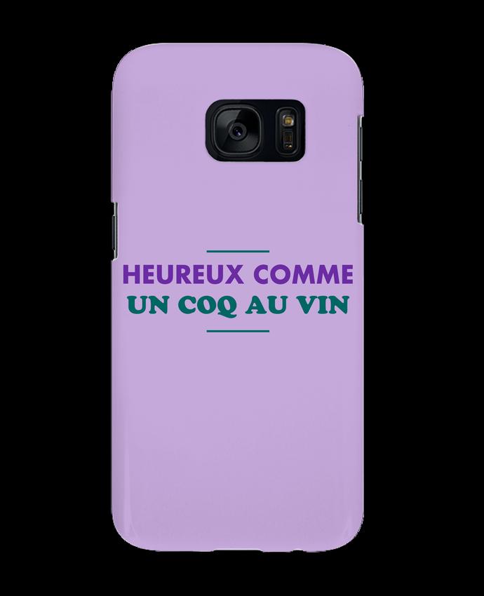 Coque 3D Samsung Galaxy S7 Heureux comme un coq au vin par tunetoo