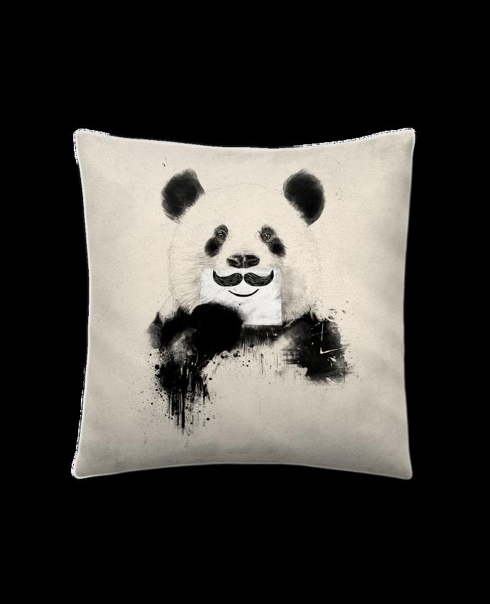Coussin Toucher Peau de Pêche 41 x 41 cm Funny Panda Balàzs Solti par Balàzs Solti