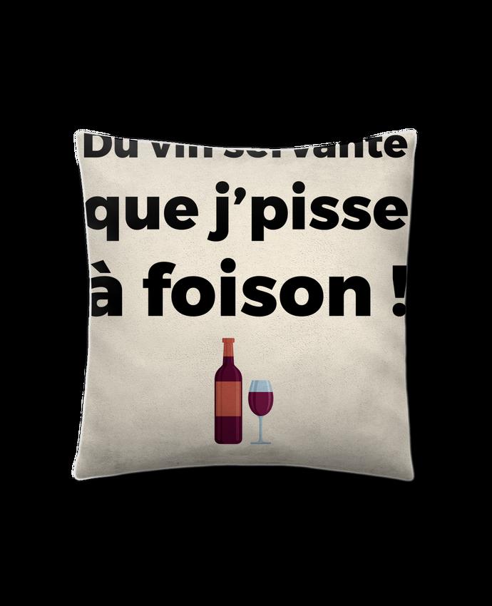 Coussin Toucher Peau de Pêche 41 x 41 cm Du vin servante par tunetoo