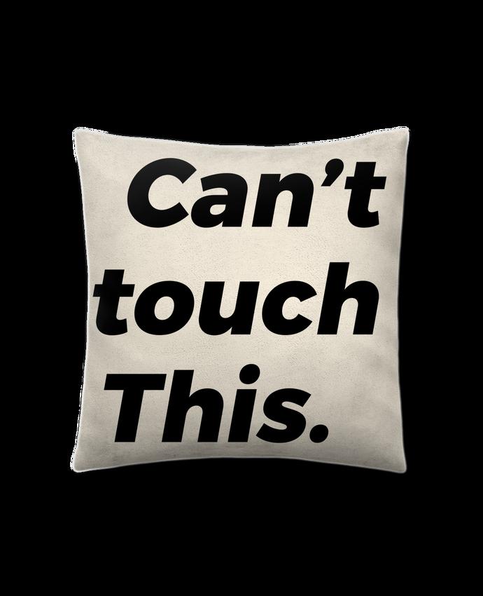 Coussin Toucher Peau de Pêche 41 x 41 cm can't touch this. par tunetoo