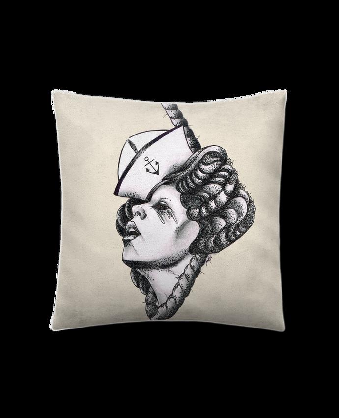 Coussin Toucher Peau de Pêche 41 x 41 cm Femme capitaine par david