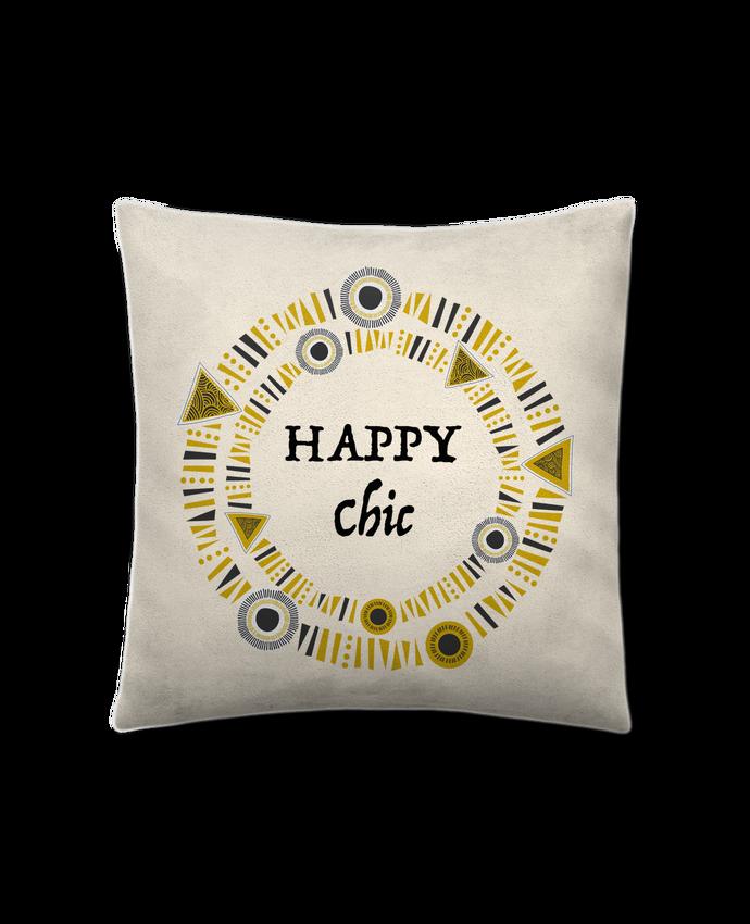 Coussin Toucher Peau de Pêche 41 x 41 cm Happy Chic par LF Design