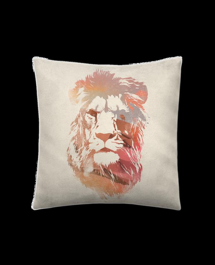 Coussin Toucher Peau de Pêche 41 x 41 cm Desert lion par robertfarkas