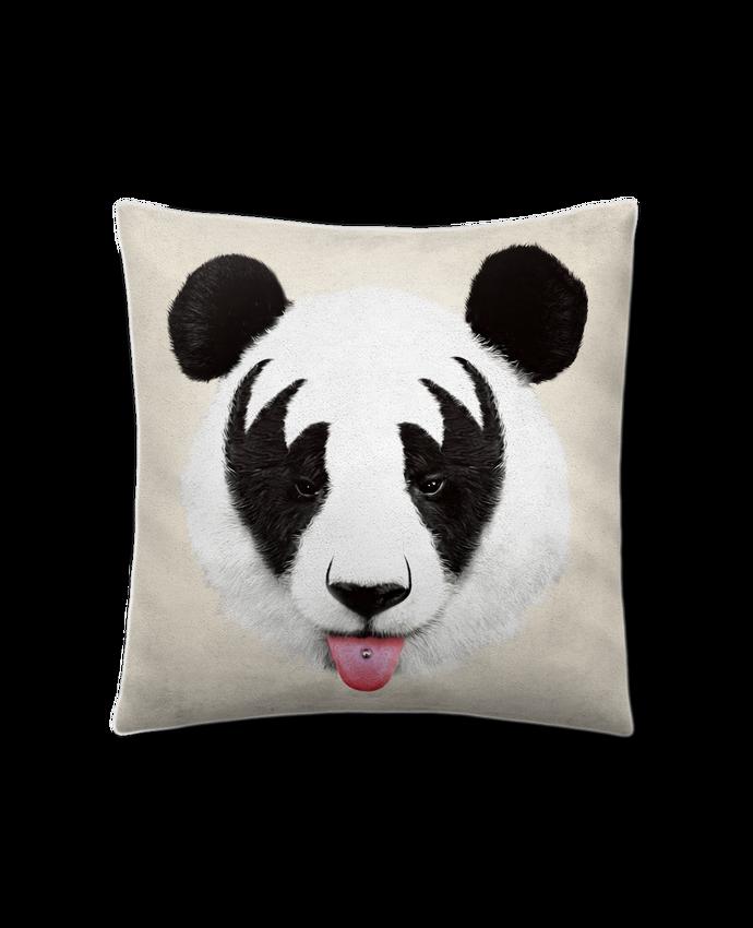 Coussin Toucher Peau de Pêche 41 x 41 cm Kiss of a panda par robertfarkas