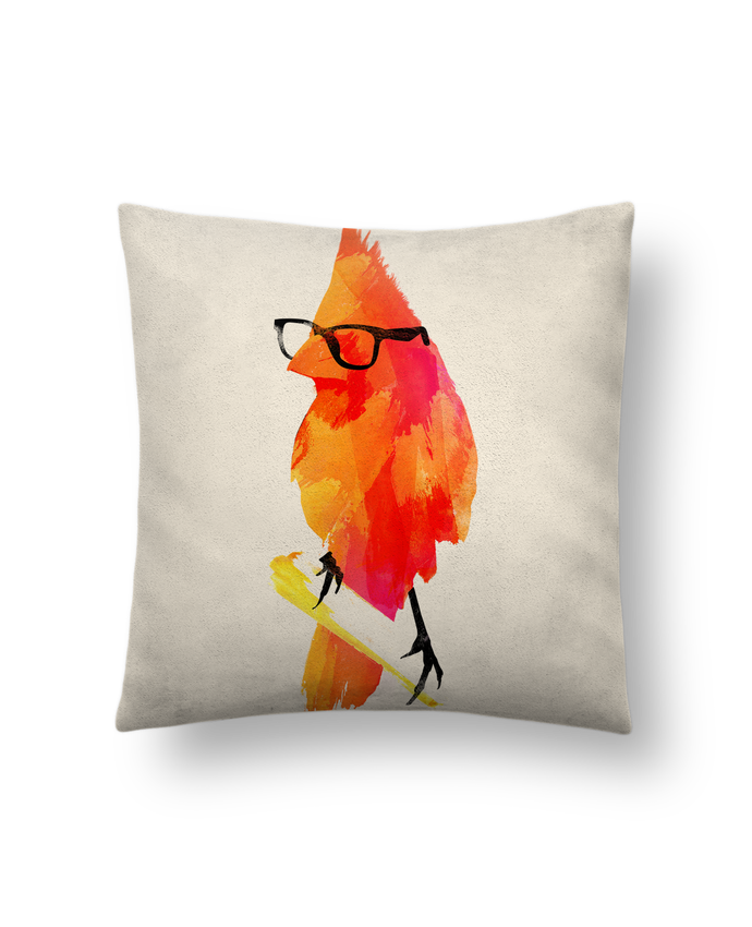 Coussin Toucher Peau de Pêche 41 x 41 cm Punk bird par robertfarkas