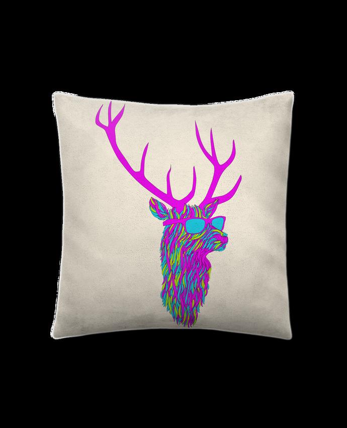 Coussin Toucher Peau de Pêche 41 x 41 cm Party deer par robertfarkas