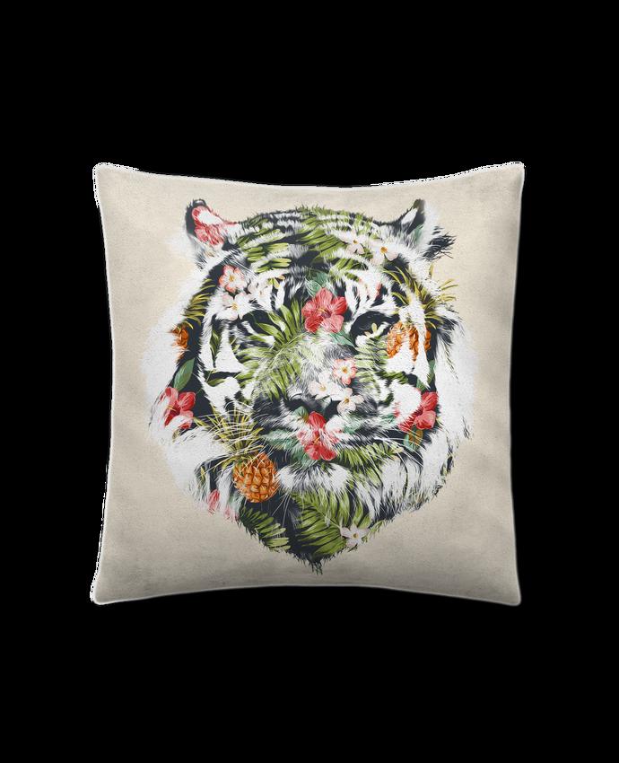 Coussin Toucher Peau de Pêche 41 x 41 cm Tropical tiger par robertfarkas
