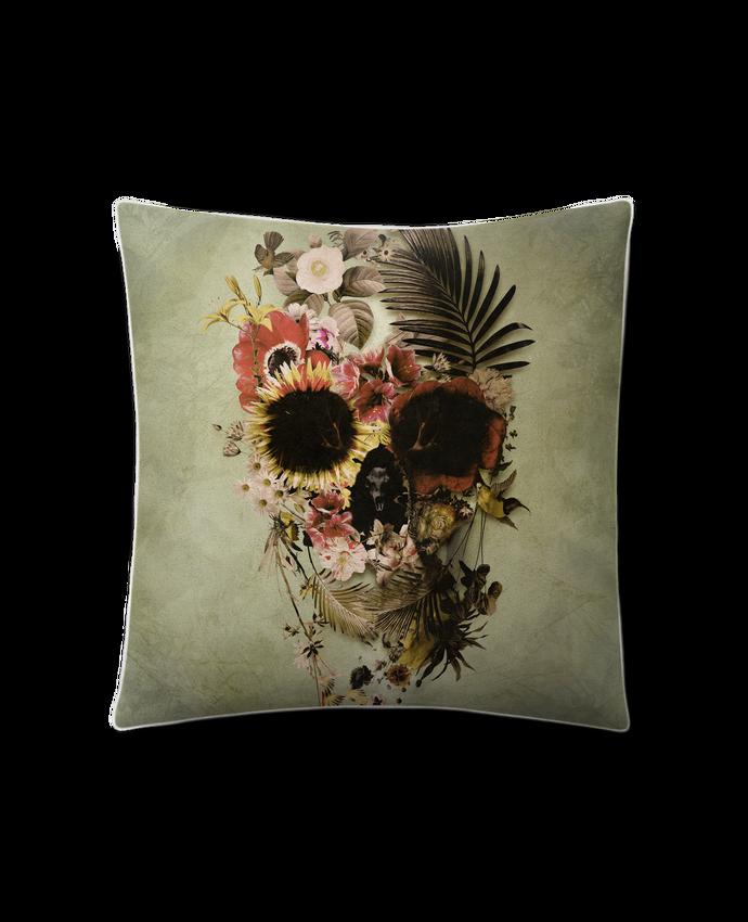 Coussin Toucher Peau de Pêche 41 x 41 cm Garden Skull par ali_gulec