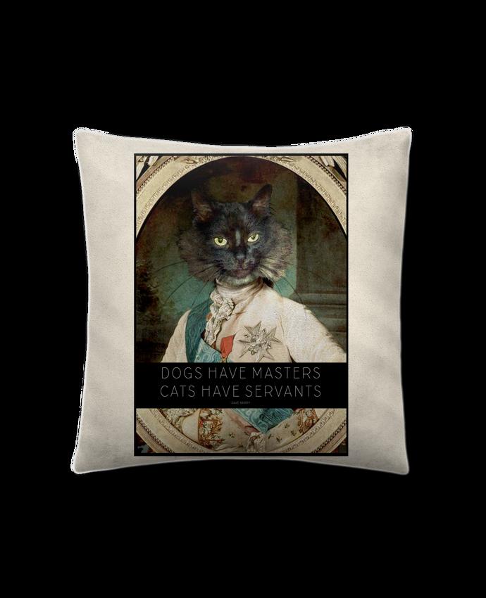 Coussin Toucher Peau de Pêche 41 x 41 cm King Cat par Tchernobayle
