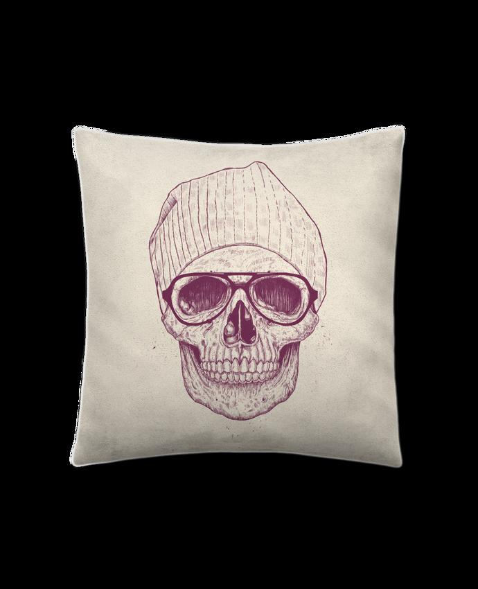 Coussin Toucher Peau de Pêche 41 x 41 cm Cool Skull par Balàzs Solti