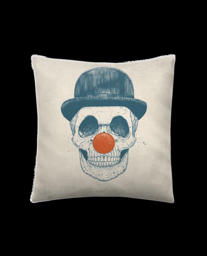 Coussin Toucher Peau de Pêche 41 x 41 cm Dead Clown par Balàzs Solti