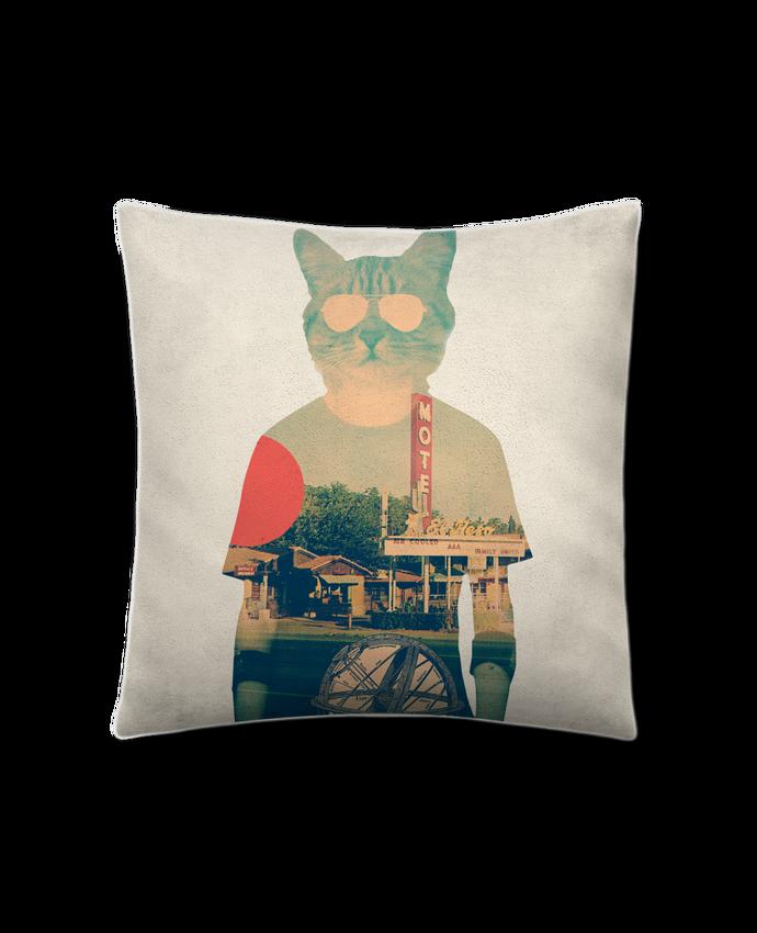 Coussin suédine Cool cat par ali_gulec
