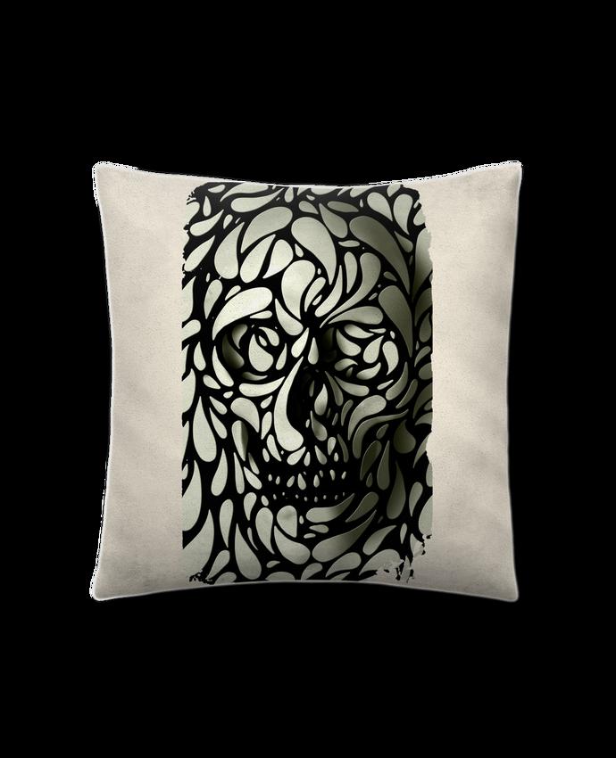 Coussin Toucher Peau de Pêche 41 x 41 cm Skull 4 par ali_gulec