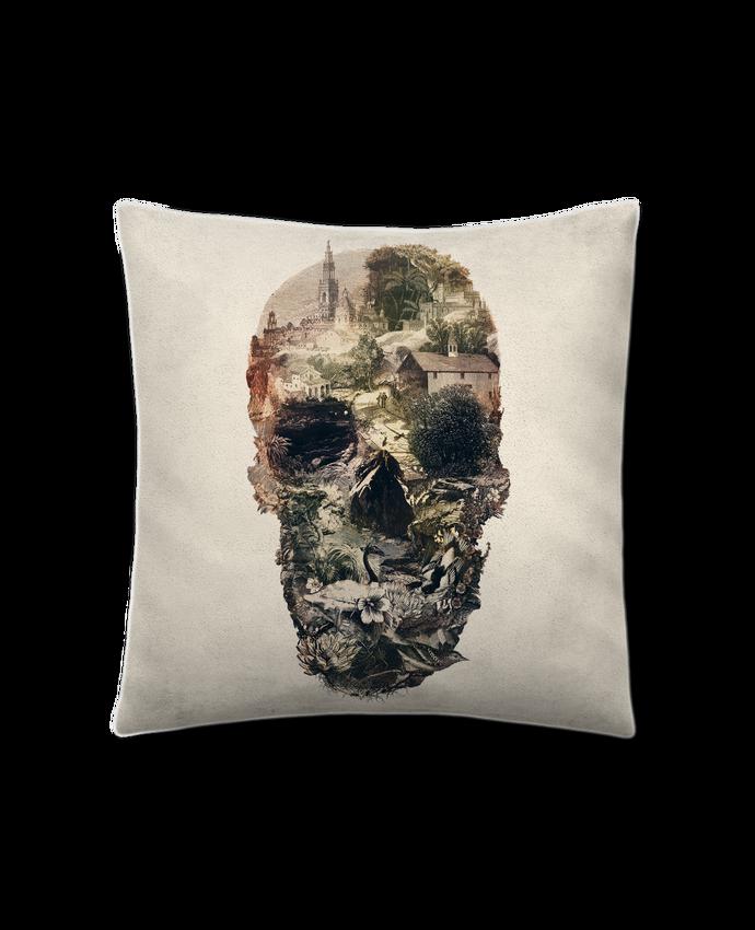 Coussin Toucher Peau de Pêche 41 x 41 cm Skull town par ali_gulec