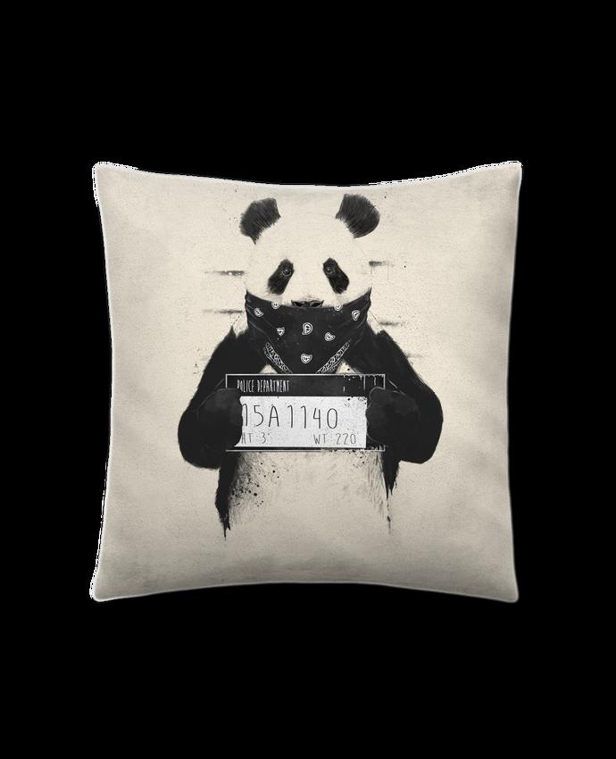 Coussin Toucher Peau de Pêche 41 x 41 cm Bad panda par Balàzs Solti
