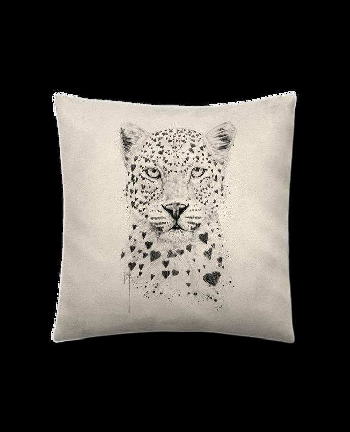 Coussin Toucher Peau de Pêche 41 x 41 cm lovely_leopard par Balàzs Solti