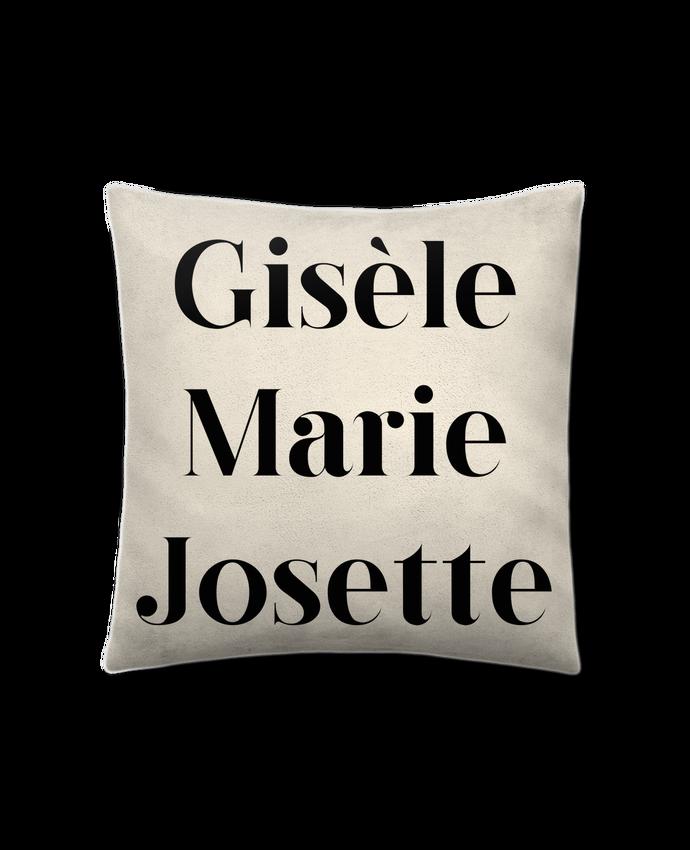 Coussin Toucher Peau de Pêche 41 x 41 cm Gisèle Marie Josette par tunetoo