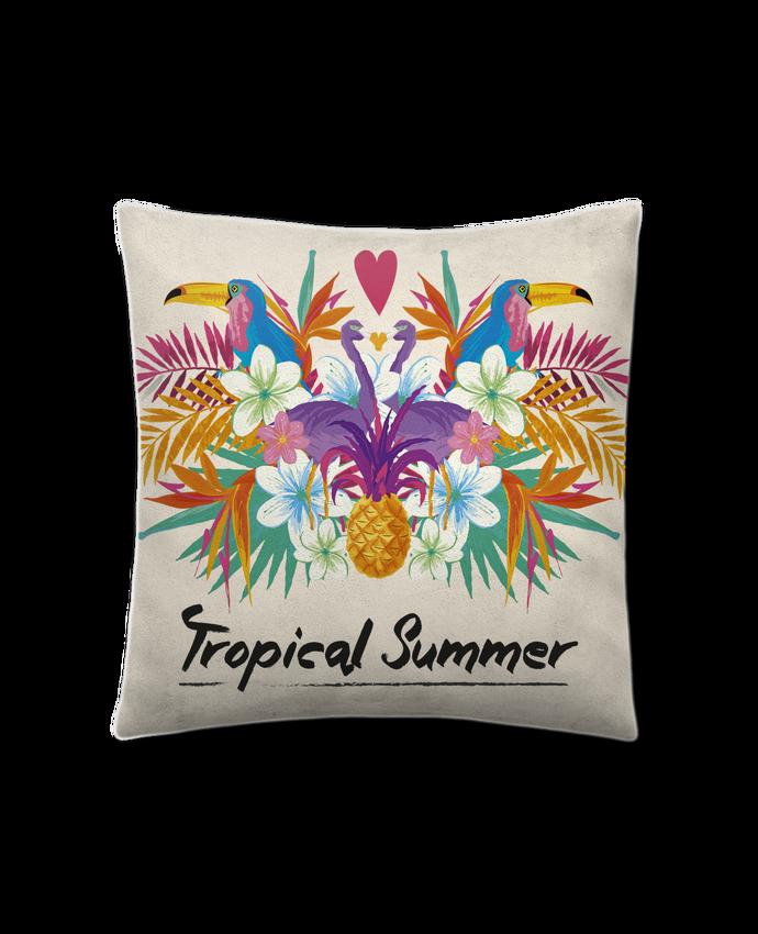Coussin Toucher Peau de Pêche 41 x 41 cm Tropical Summer par IDÉ'IN