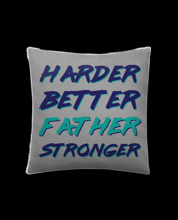 Coussin Toucher Peau de Pêche 41 x 41 cm Harder Better Father Stronger par tunetoo